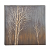 Benzara Grey Brown Shaded Styled Canvas Art