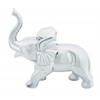 "Solid Ceramic 12"" Elephant Decor For Modern Look In Silver"