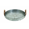 Benzara Galvanized Rope Tray Designed With Great Finesse