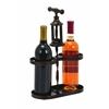 Benzara Metal Wine Holder With Traditional Cork-Opener Accent