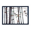 Classic Metal Wall Decor With Intricate Bird And Tree Motifs
