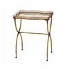 Benzara Metal Tea Table In Deep Golden Shade And Versatile Style