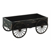 Benzara Wood Decor Cart In Light Grey Background With Royalty Look