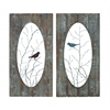 Wooden Assorted Set Of 2 Panel Wall Décor