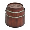 Benzara American Cowboy Themed Classy Metal Barrel Table