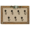 Benzara Wooden Frame Unique Floral Art Hook Wall Panel