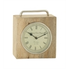 Benzara Splendid Wood Metal Table Clock