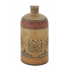 Benzara Timelessly Lovely Glass Painted Bottle