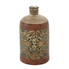 Benzara Traditional Glass Painted Bottle
