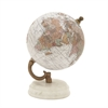 Marvelous Wood Metal Marble Globe, Multicolor