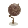 94447 Charming Wood Metal Marble Globe, Multicolor