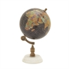 Fantastic Wood Metal Marble Globe, Multicolor