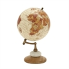 94451 Charming Wood Metal Marble Globe, Multicolor