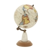Gorgeous Wood Metal Marble Globe, Multicolor