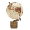 Stunning Wood Metal Marble Globe, Multicolor