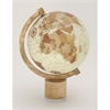 Attractive Wood Marble Metal Globe, Multicolor