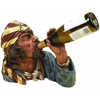 Polystone Pirate Wine Holder Anytime Bar Corner Decor Upgrade