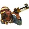 Polystone Pirate Wine Holder Anytime Bar Corner Decor Upgrade