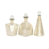 Marvelous Glass Stopper Bottle, Beige, Set Of 3