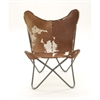 Fabulous Metal Real Leather Hair Chair, Multicolor