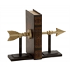 Adorably Styled Metal Arrow Bookend Pair