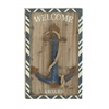 "Benzara Nautical Wood Metal Wall Anchor Plaque 21""W, 34""H"