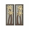 Benzara Elegantly Designed 2 Assorted Metal Wall Décor