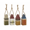 "Benzara Fantastic Wood Table Buoy 4 Assorted 4""W, 10""H"