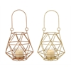 "Metal Glass Rope Lantern 2 Assorted 5""W, 5""H"