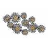 "Stunning Metal Flower Wall Decor 44""W, 23""H"