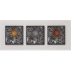 "Outstanding Metal Wall Decor 3 Assorted 15""W, 15""H"