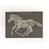 Antique Metal Horse Wall Decor, Black, White & Brown