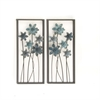 Attractive Metal Wall Decor Assorted 2, Blue and Gray