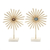 Stunning Metal Wood Star Sculpture Assorted 2, Gold