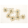 Alluring Metal Resin Wall Decor, Gold