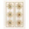 Elegant Metal Resin Wall Decor Assorted 2, Gold