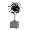 "Metal Concrete Sculpture 7""W, 13""H, Black, Gray"