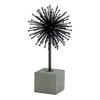 "Metal Concrete Sculpture 7""W, 13""H, Black, Gray"