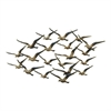 "Metal Wall Decor 48""W, 27""H, Gold, Black"