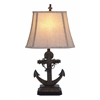 Benzara Polystone Anchor Lamp Corner Table Light