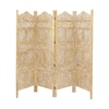 Trendy Screen 4 Panel, Caramel and White