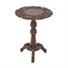 Classic Wood Carved Side Table, Brown