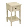 Benzara Night Stand In Elegant Off White Color With Fine Detailing