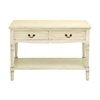 Benzara Console With Additional Storage Capability And Brass Handles