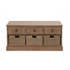 Benzara The Rural Wood 3 Basket Chest