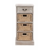 Benzara The Cool Wood 3 Basket Chest