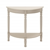 Classy Styled Wood 1/2 Round Console Table