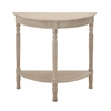 Benzara Wonderful Wood 1/2 Round Console Table