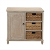 Benzara Stylish And Trendy Multipurpose Wood Basket Dresser