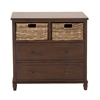 Benzara Chic And Versatile Wood Basket Dresser